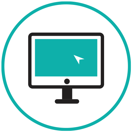 Website icon with computer screen and mouse arrow