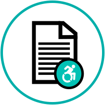 Accessible document icon